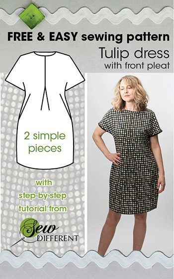 TULIP DRESS - Free sewing pattern | Sewing projects, Free pattern ...
