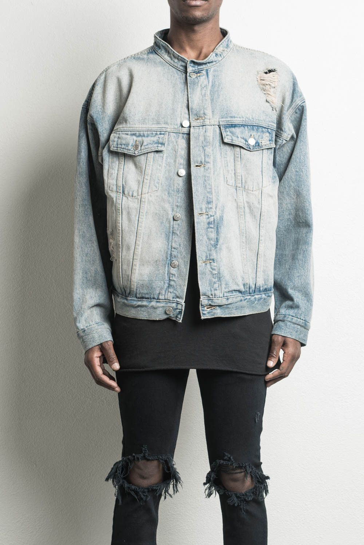Oversized Denim Jacket Blue Desert Designer Streetwear Denim Jacket Mens Fashion Urban Jackets Men Fashion Jean Jacket Outfits Men [ 1498 x 1000 Pixel ]