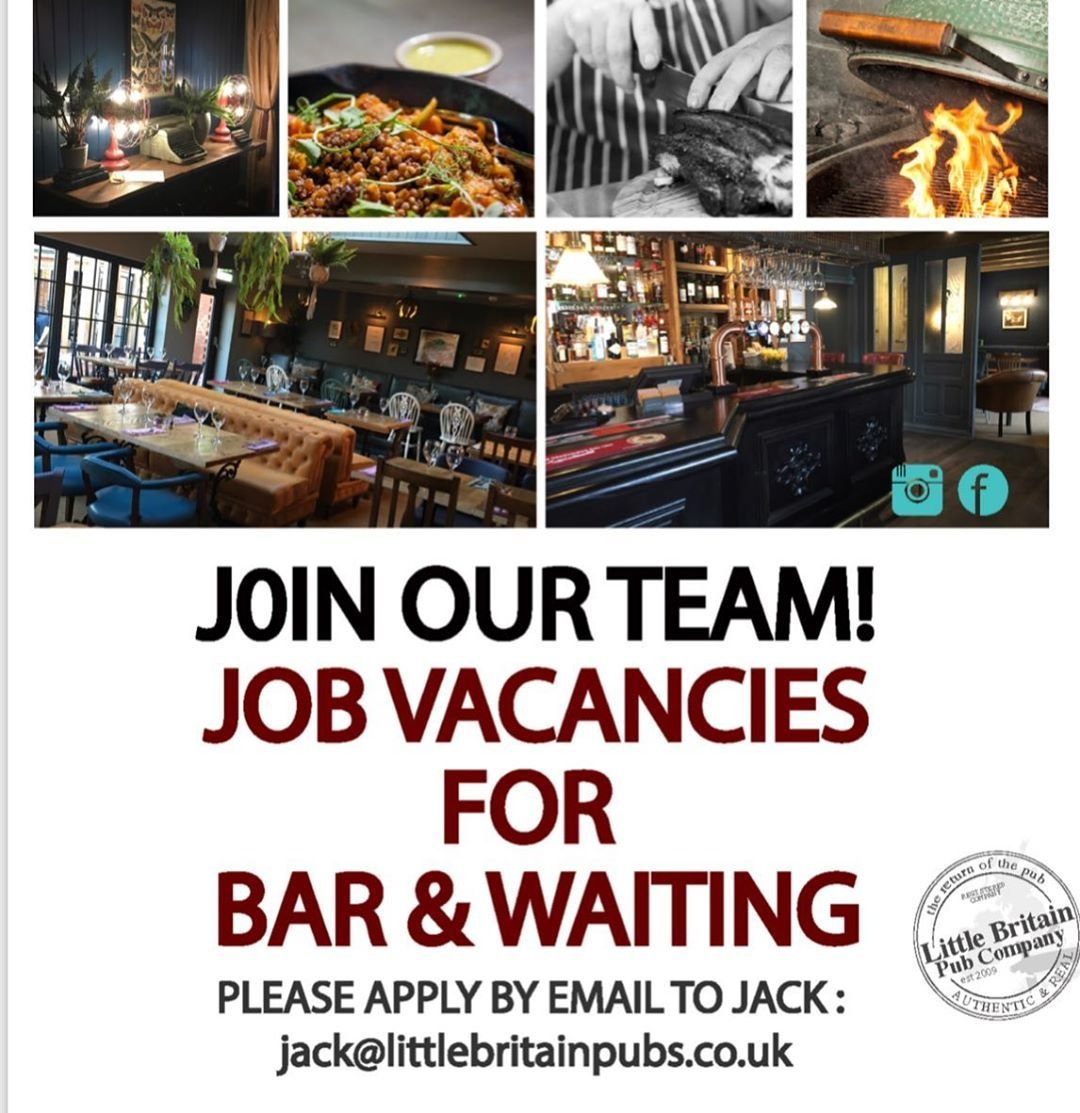 The Time Has Come Again When We Need Some More Recruits To Join The La Team We Have Part Time And Full Time Roles Available For The Ri Pub New Job