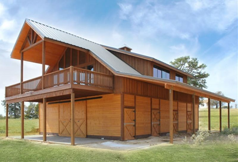 Barn with Living Quarters | The Denali Garage Apt 48 | Barn Pros ...