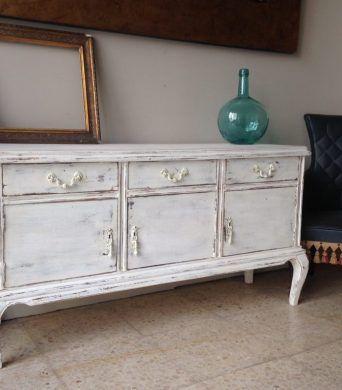 Mueble vintage restauradomueble recibidor vintage for Mueble recibidor vintage