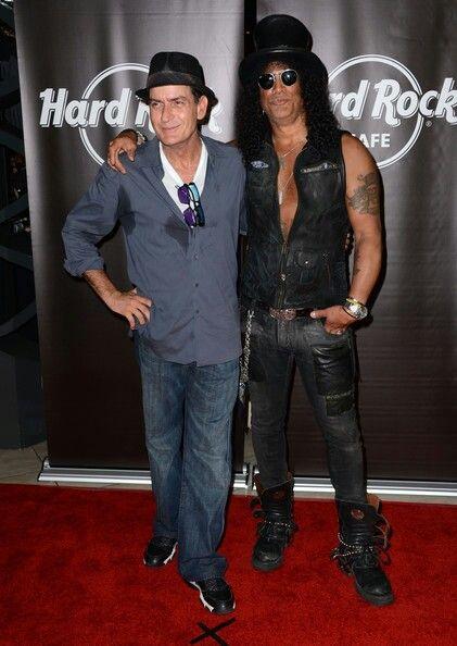 Charlie Sheen & Slash