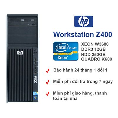Máy trạm HP workstation Z400 cpu 6 core vga 1gb Quadro K600