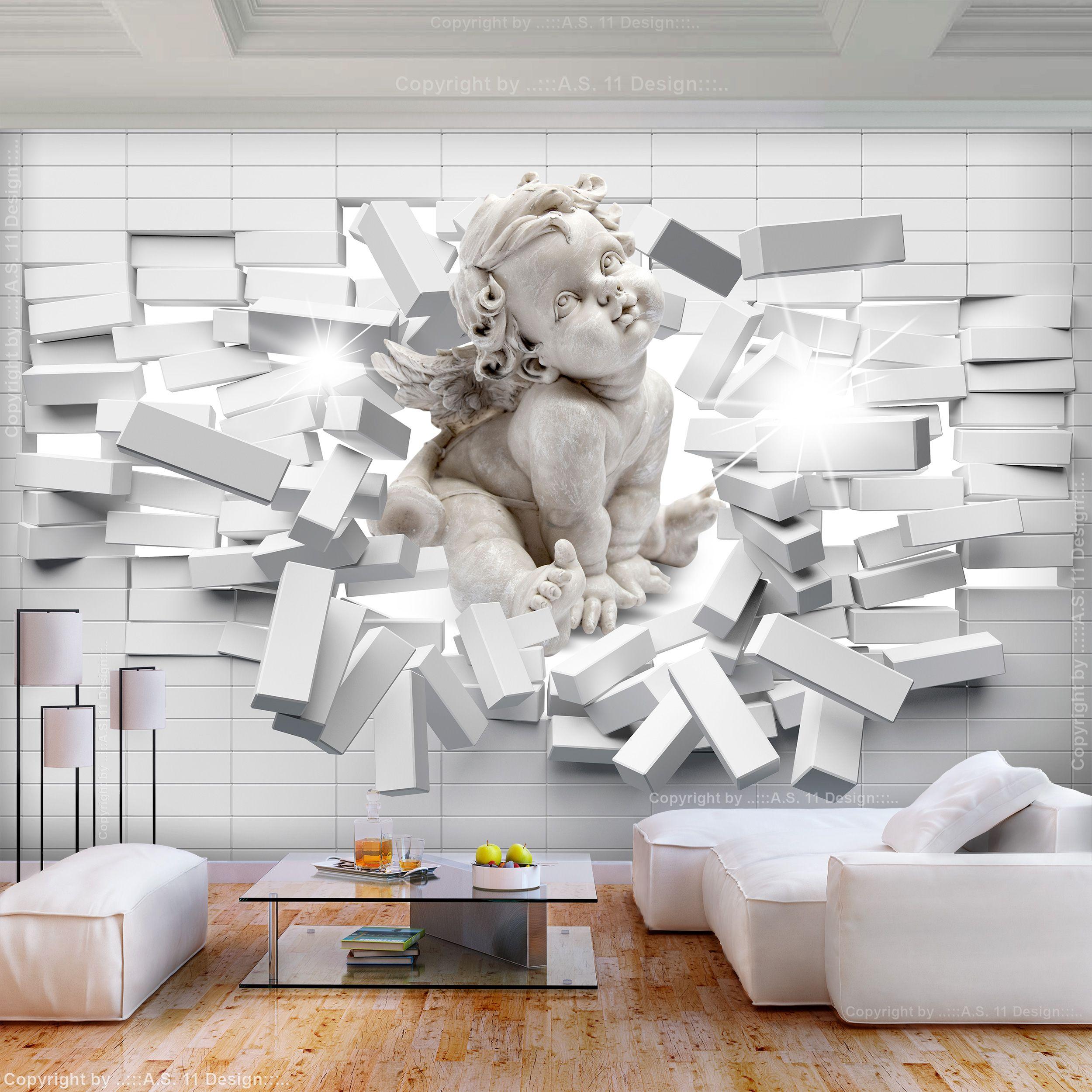 Vlies Fototapete Steinwand Grau Steine Engel 3d Tapete Tapeten Fototapeten Sonnenuntergang Heute Sonnenaufga In 2020 Wall Wallpaper Lion Sculpture Living Room Decor