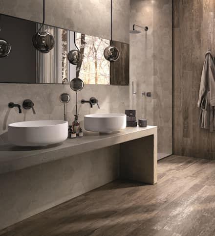 Badezimmer ideen design und bilder bad bathroom tiles und modern bathroom - Badezimmer holzfliesen ...