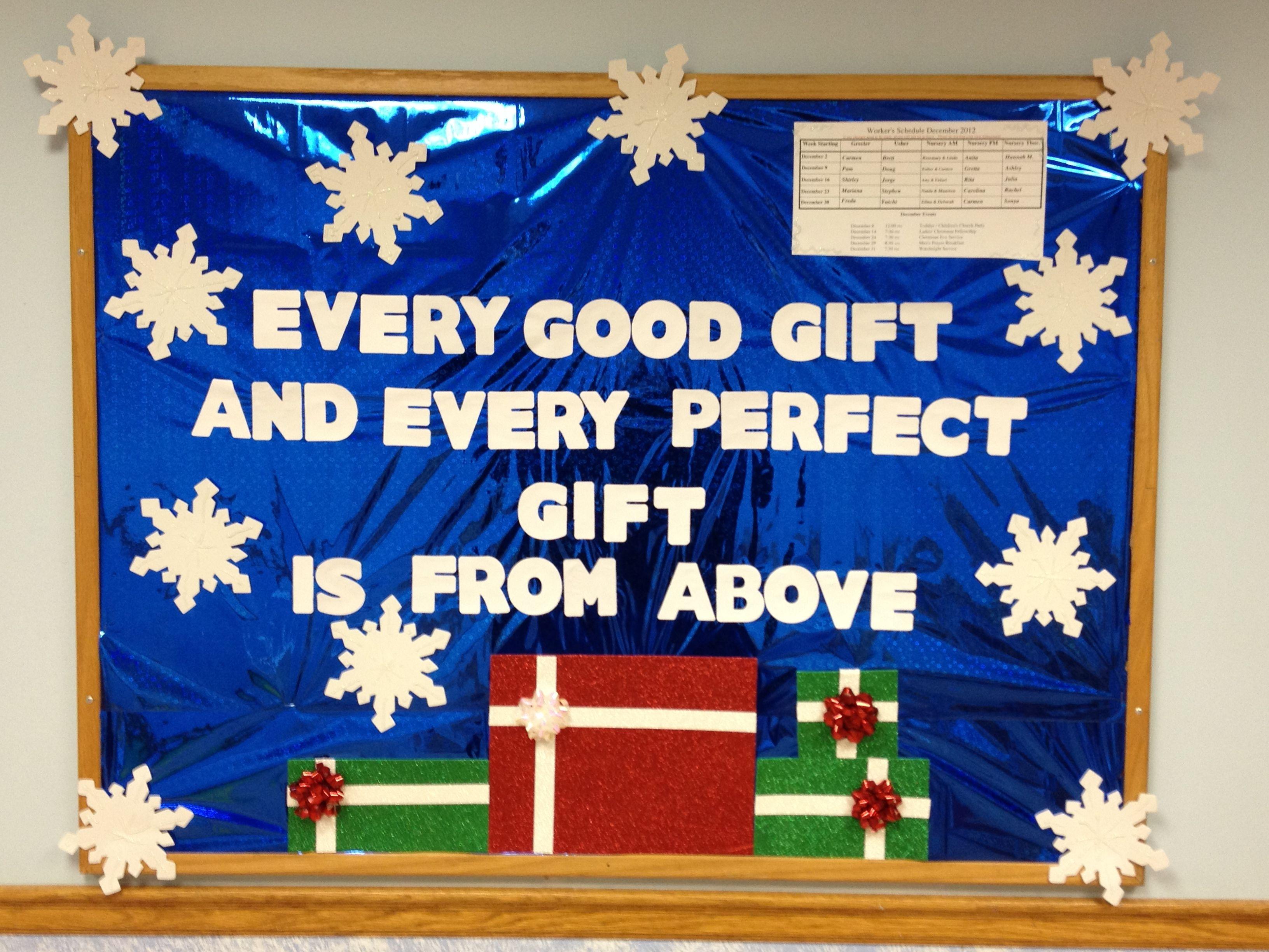 Every Good T Christmas Bulletin Board