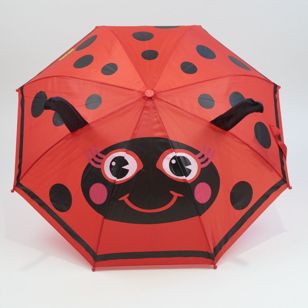 Make a splash with this Ladybug Umbrella!!  Designed to look like a ladybug.  Shoedipity.com. To go with her boots!