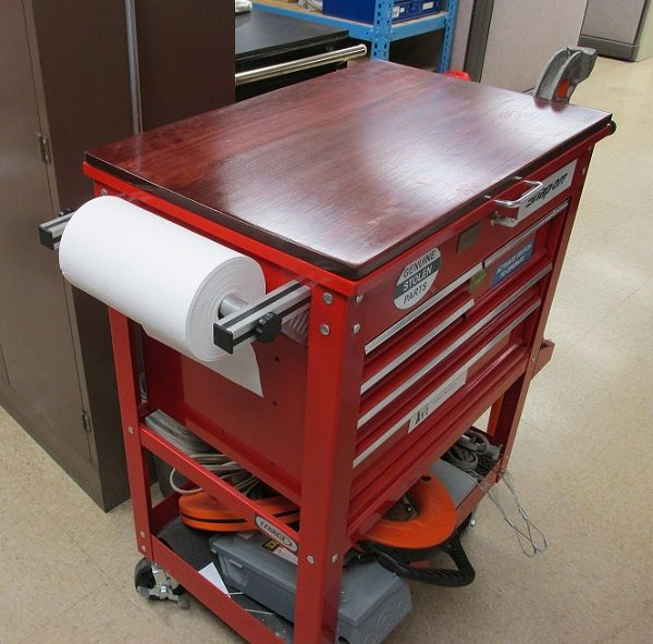 Modifications to the hf 4 and 5 drawer service carts for Online garage design tool