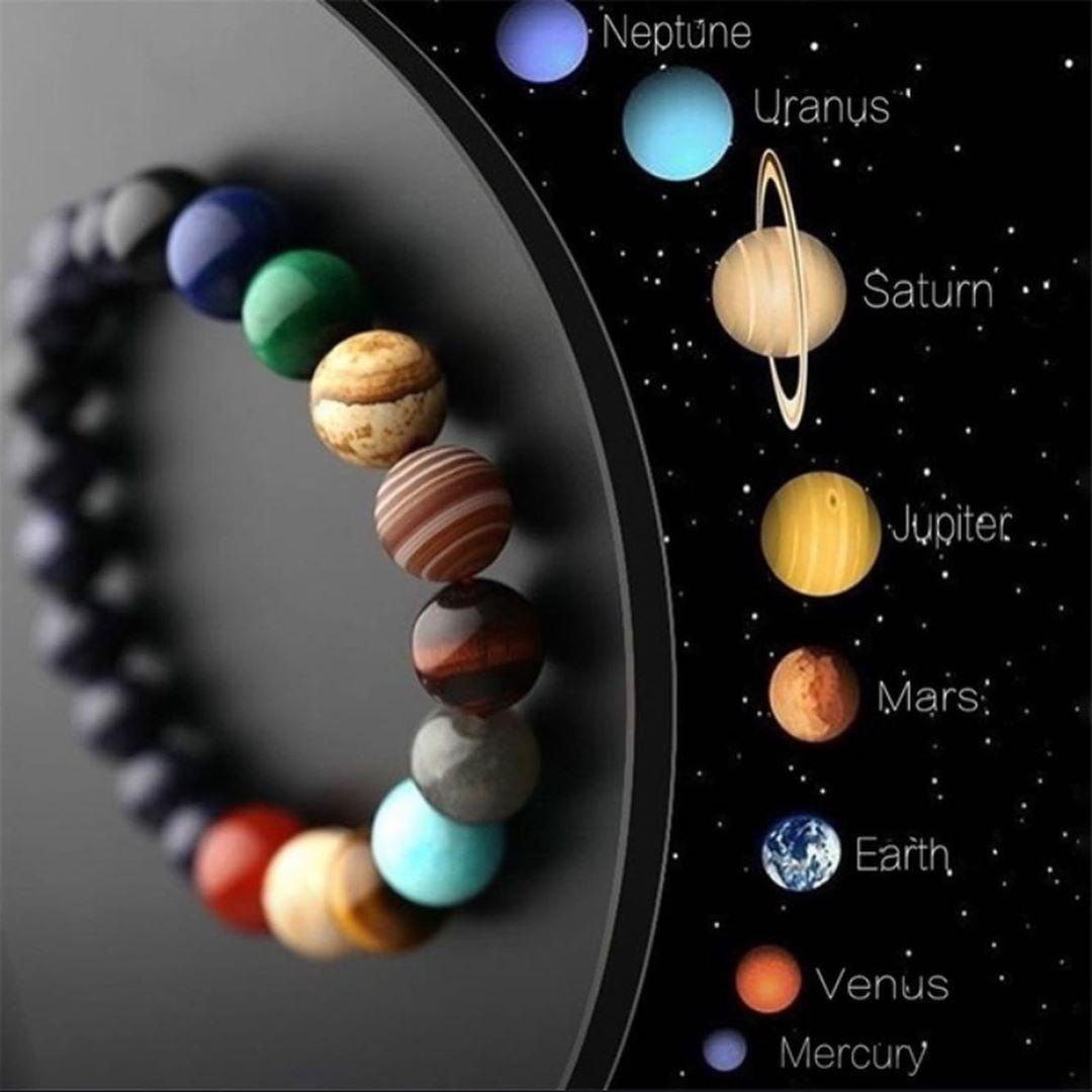 Bu Bilərziklər Cox Məhsur Və Dəyərli Daslardan Hazirlanib Insanlarin ən Mohtəsəm Fantaziyasini I Solar System Bracelet Natural Stone Bracelets Beaded Bracelets