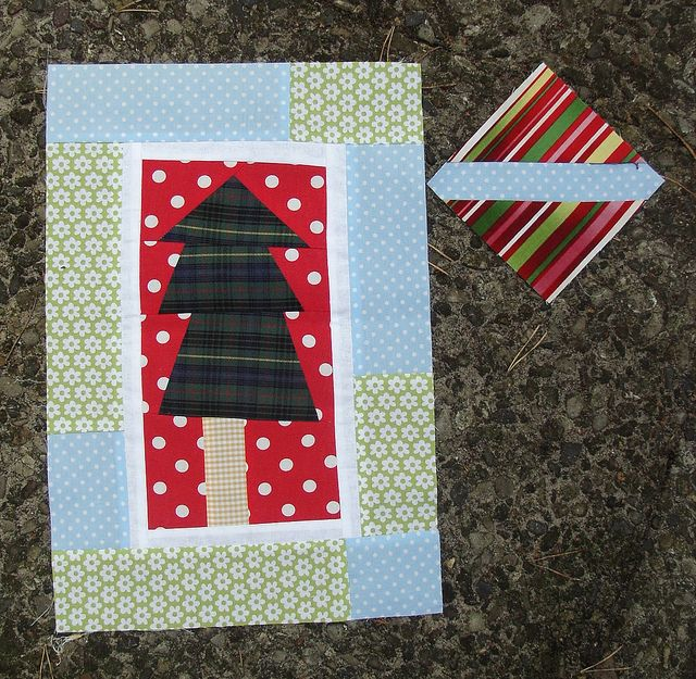 winter or chirstmas quilt block