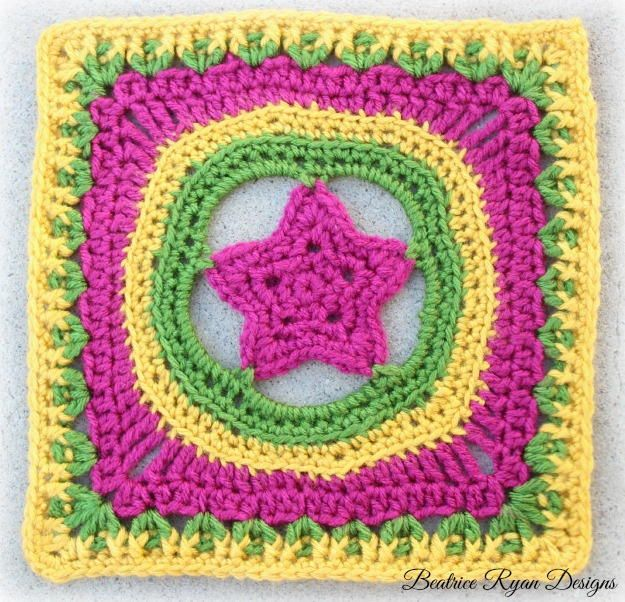 Shining Star Crochet Granny Square | Pinterest | Stricken häkeln ...