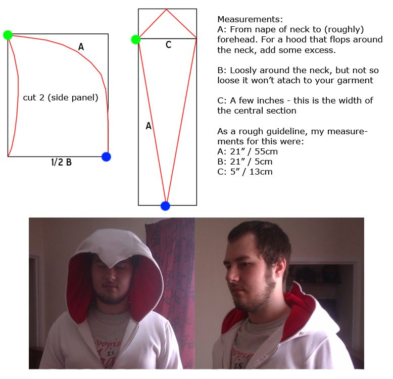 Basic Assassin's Creed Hood Pattern By Zelvynedeviantart On Extraordinary Assassin's Creed Hood Pattern