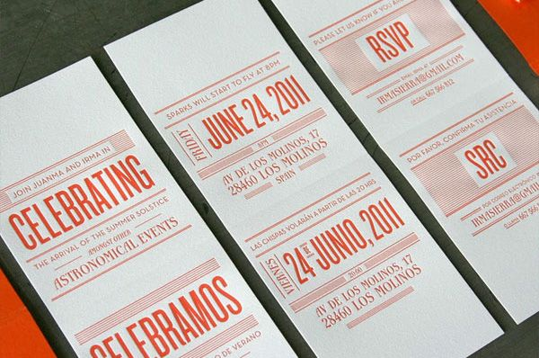 Beautiful  Creative Invitation Card Designs  Letterpresses