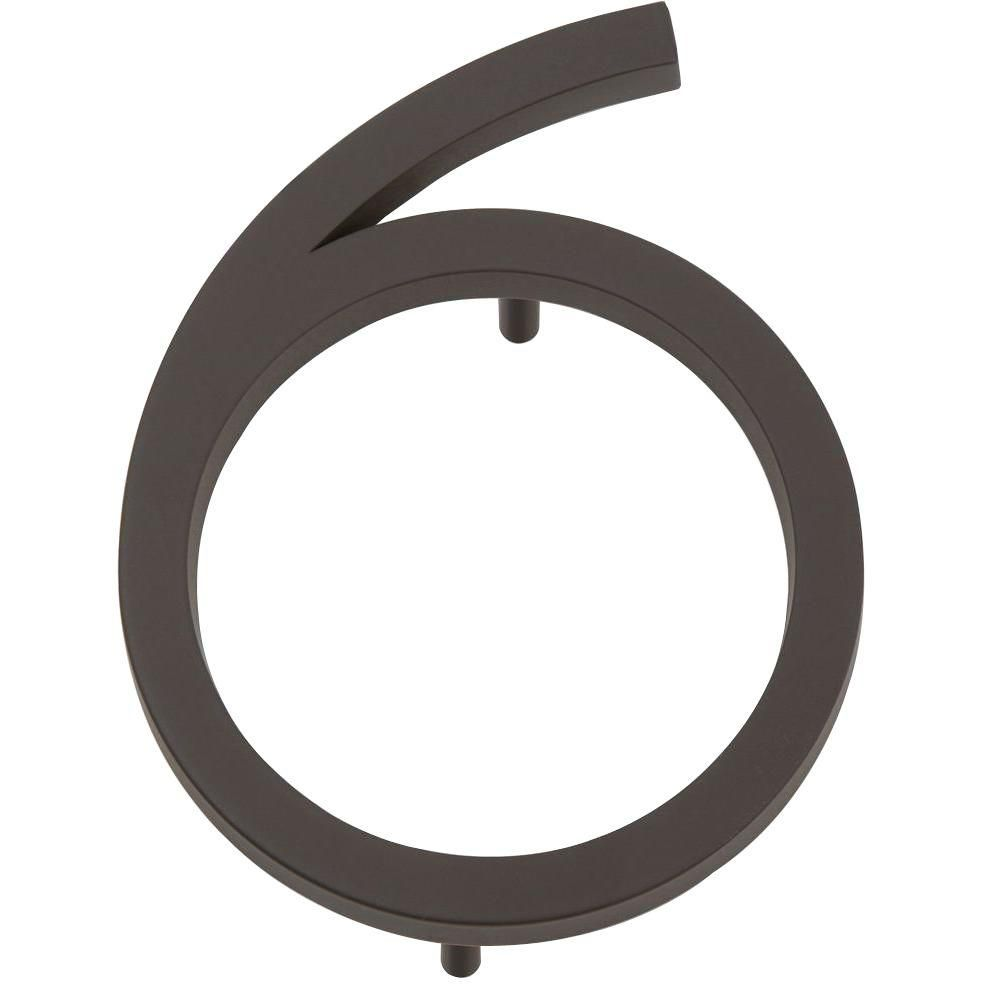 Modern Avalon Collection 4.5 in. Oil-Rubbed Bronze Number