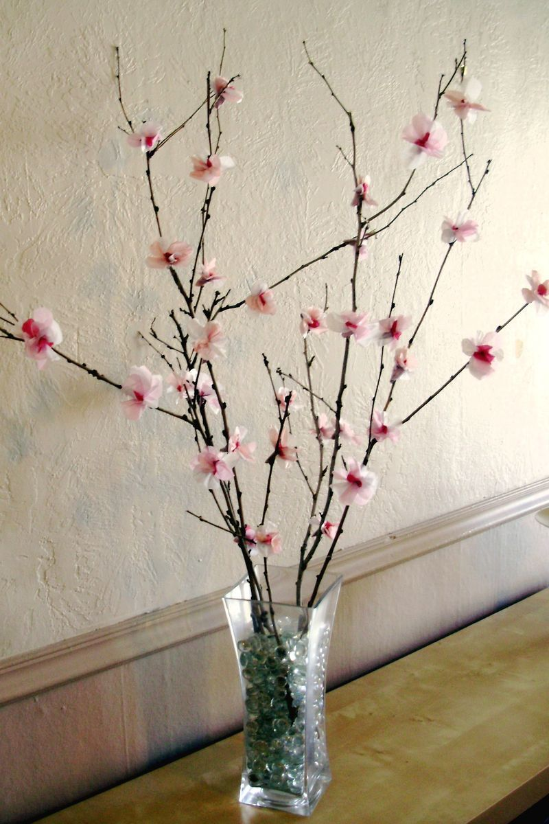 Cherry blossom branches in a vase home pinterest tissue cherry blossom branches in a vase reviewsmspy
