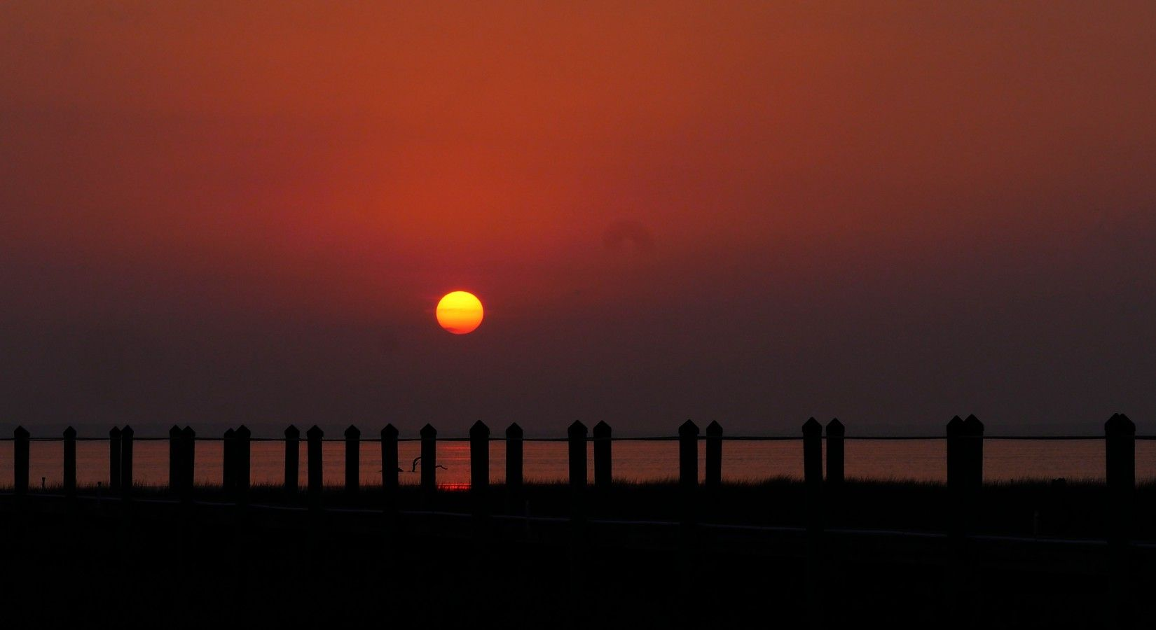 ...hazy sunset, Port St. Joe, Fl