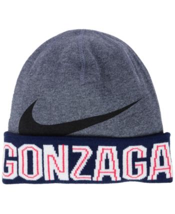 107f87aa8f3 Nike Gonzaga Bulldogs Training Beanie Knit Hat - Gray Adjustable ...