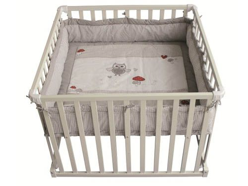 Laufgitter roba adam & eule quadratisch baby erstausstattung