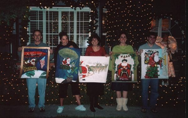 Here are 5 of my paintings I sold to the Sanders family in Modesto, California.