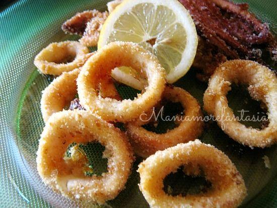 varietà larghe vari stili stile classico del 2019 Anelli di calamari al forno buoni come quelli fritti ...