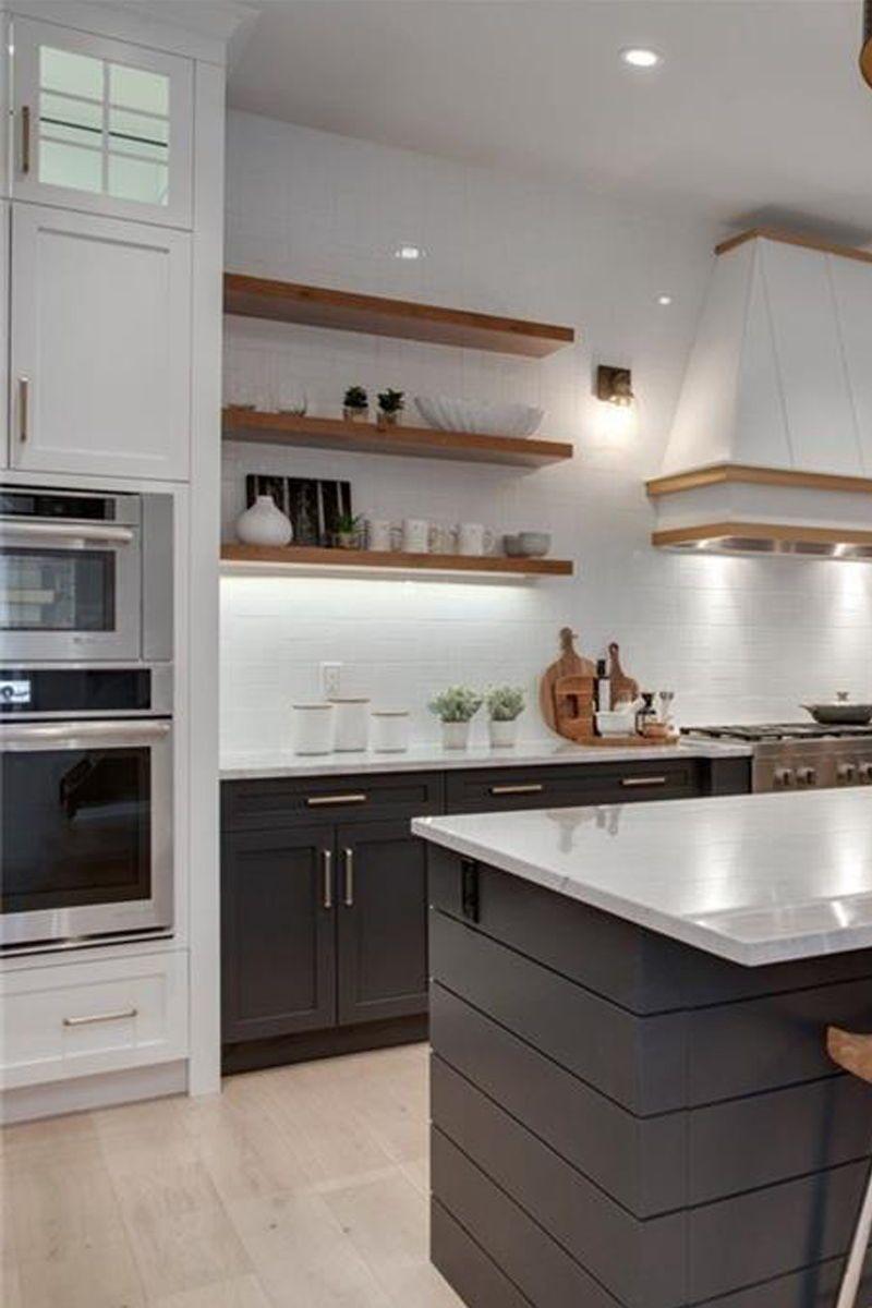 Modern farmhouse kitchen designs custom vent hood modern farmhouse trickle creek designer homes