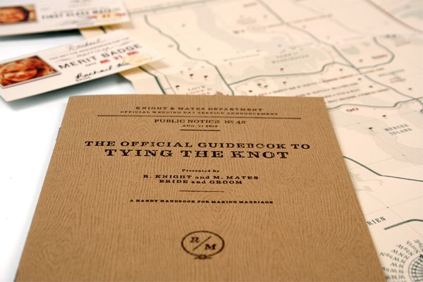 I Love These Tying The Knot Rk Mm Wedding Invitations By Urban Influence Via Behance