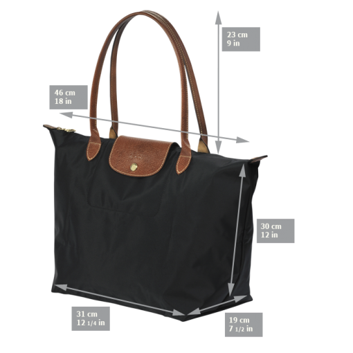 Large tote bag - Le Pliage - Handbags - Longchamp - Coral red ...