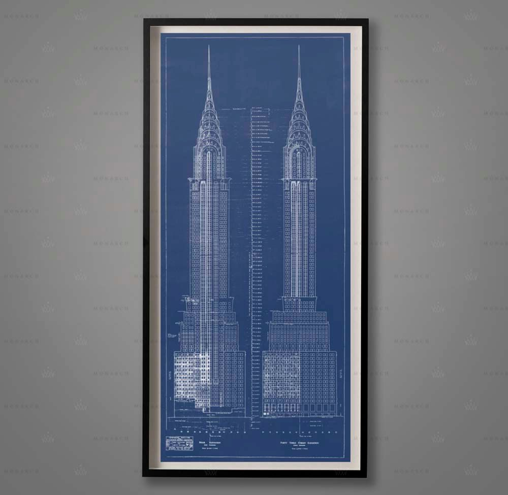 Chrysler building blueprints architecture plans elevations nyc chrysler building blueprints architecture plans elevations nyc architecture chrysler elevations wall decor large wall art architect malvernweather Gallery