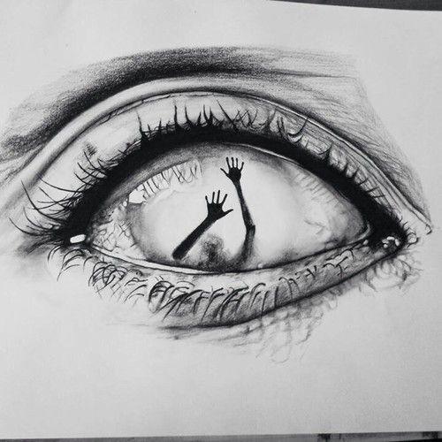 Auge, Kunst und Zeichnungsbild  #kunst #paintingartideas #zeichnungsbild