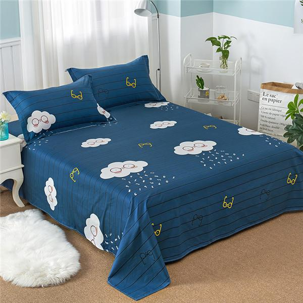 100% Cotton Modern Fashion Bed Flowers Flowers And Trees Printing Pattern  3pcs Bed Sheets Pillowcase