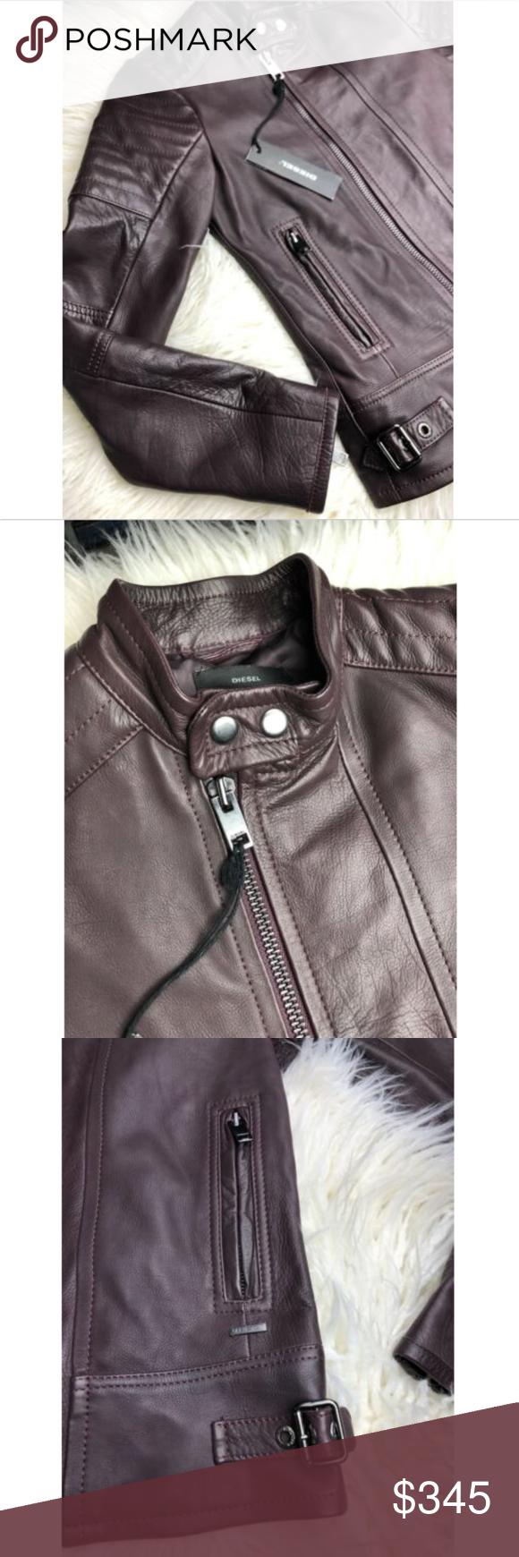 Diesel Women S Lily Moto Leather Zip Up Jacket Win Diesel Jacket Jackets Zip Ups [ 1740 x 580 Pixel ]