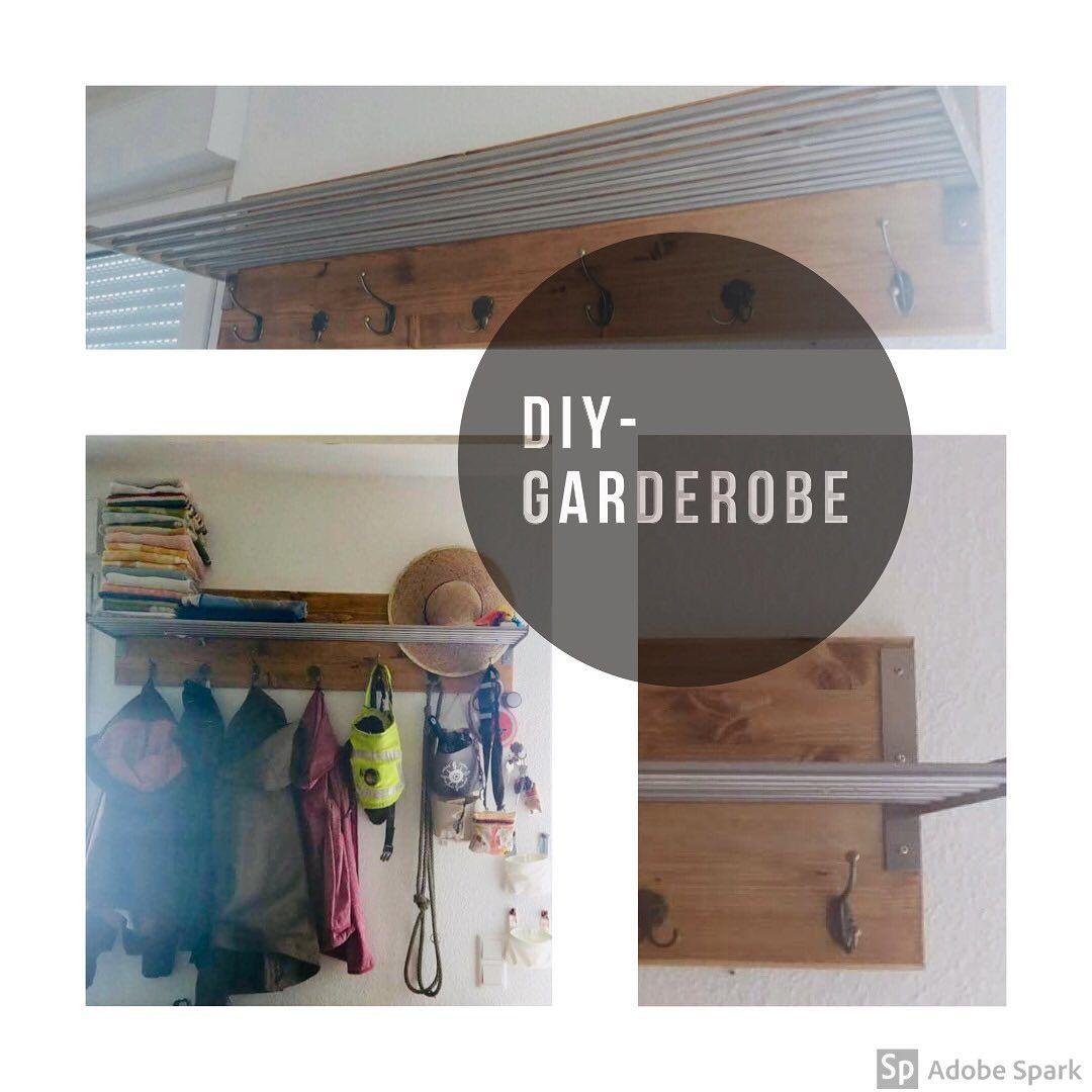 Diy Garderobe Aus Kiefernholz Und Einer Einfachen Hutablage
