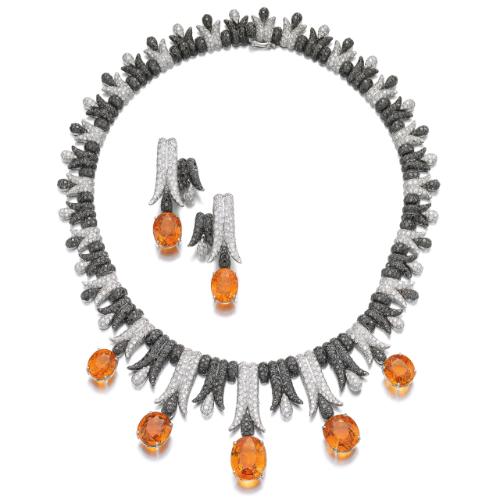 Spessartite garnet and diamond demi-parure, de Grisogono | lot | Sotheby's