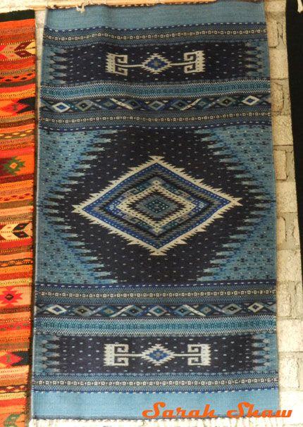 Zapotec Rug From El Colibri In Teotitlan Del Valle Mexico