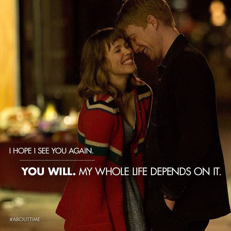 Pin By Supercorey On Love Sayings And The Like About Time Movie Love Movie Good Movies