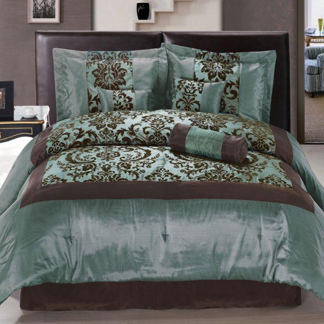 Teal Brown Bedding Brown Comforter Sets Bed Comforter Sets