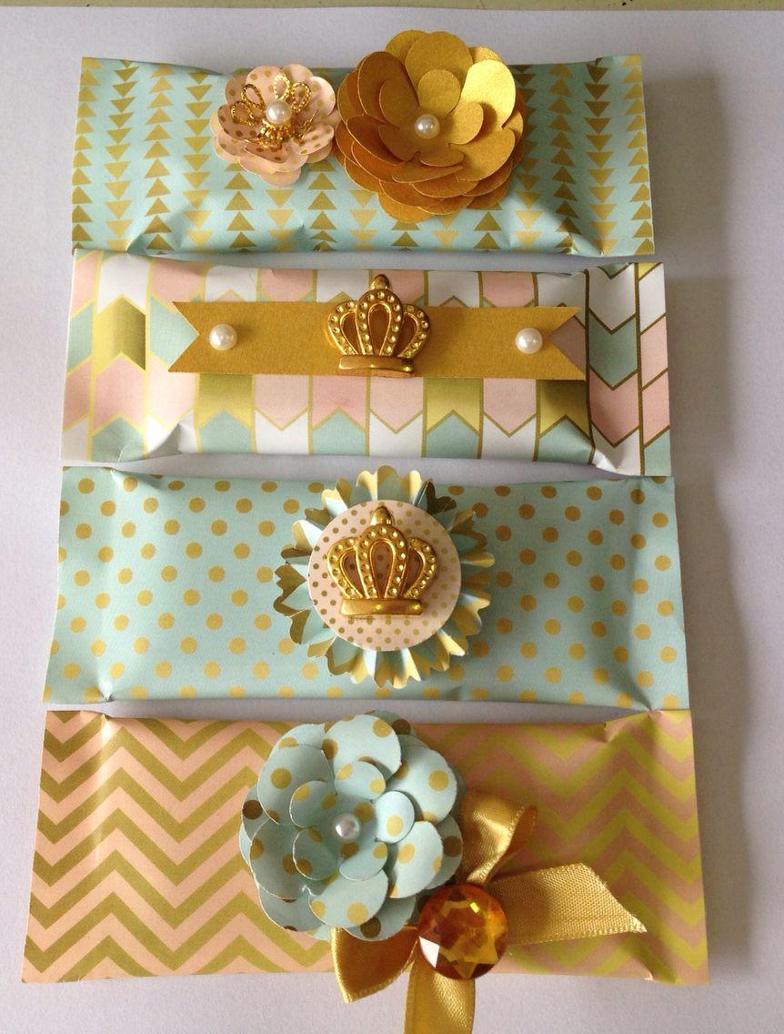 Chocolate princesa moderna (dourado, menta e pessêgo)