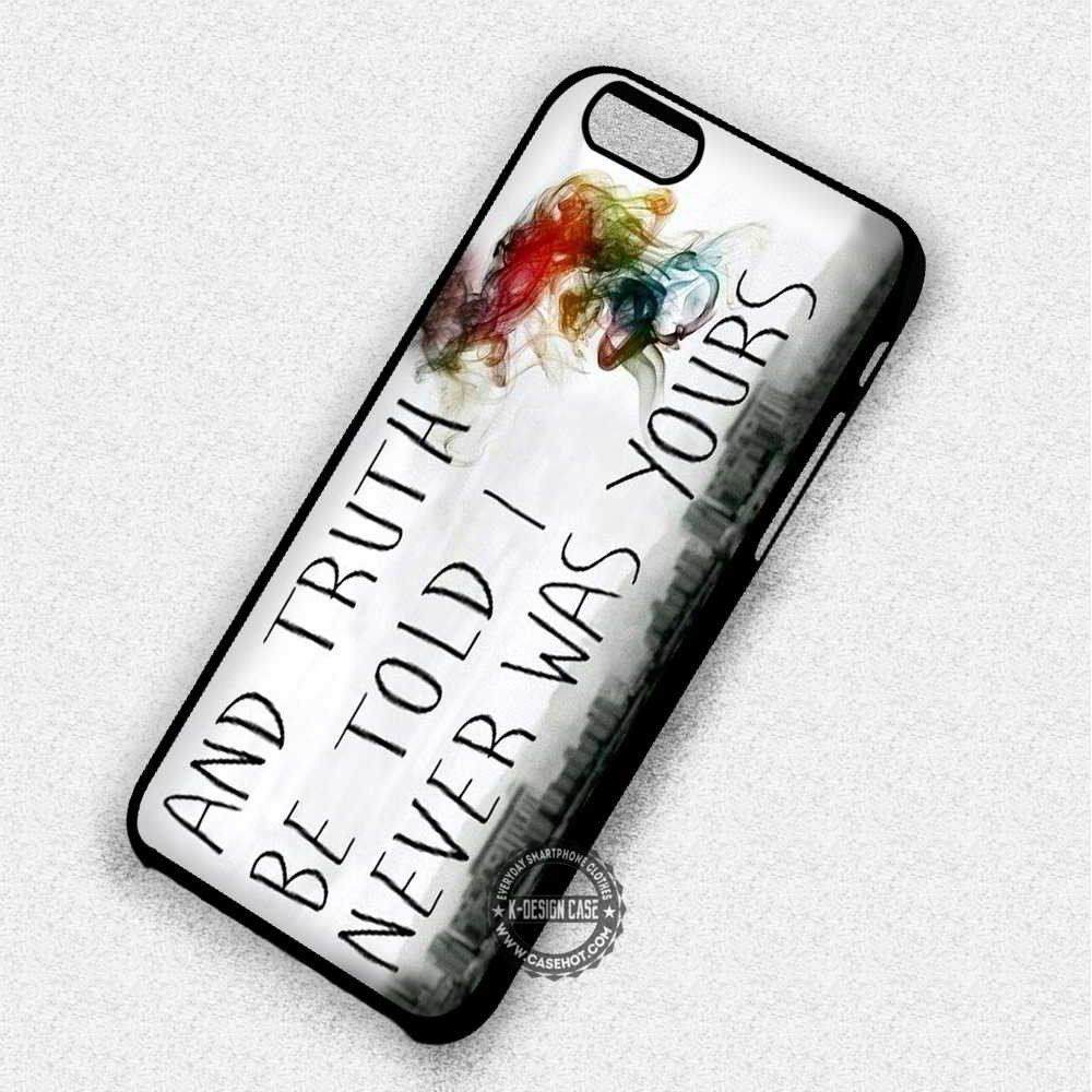 I Never Was Yours Lyric Panic at The Disco - iPhone 7 6 Plus 5c 5s SE Cases & Covers