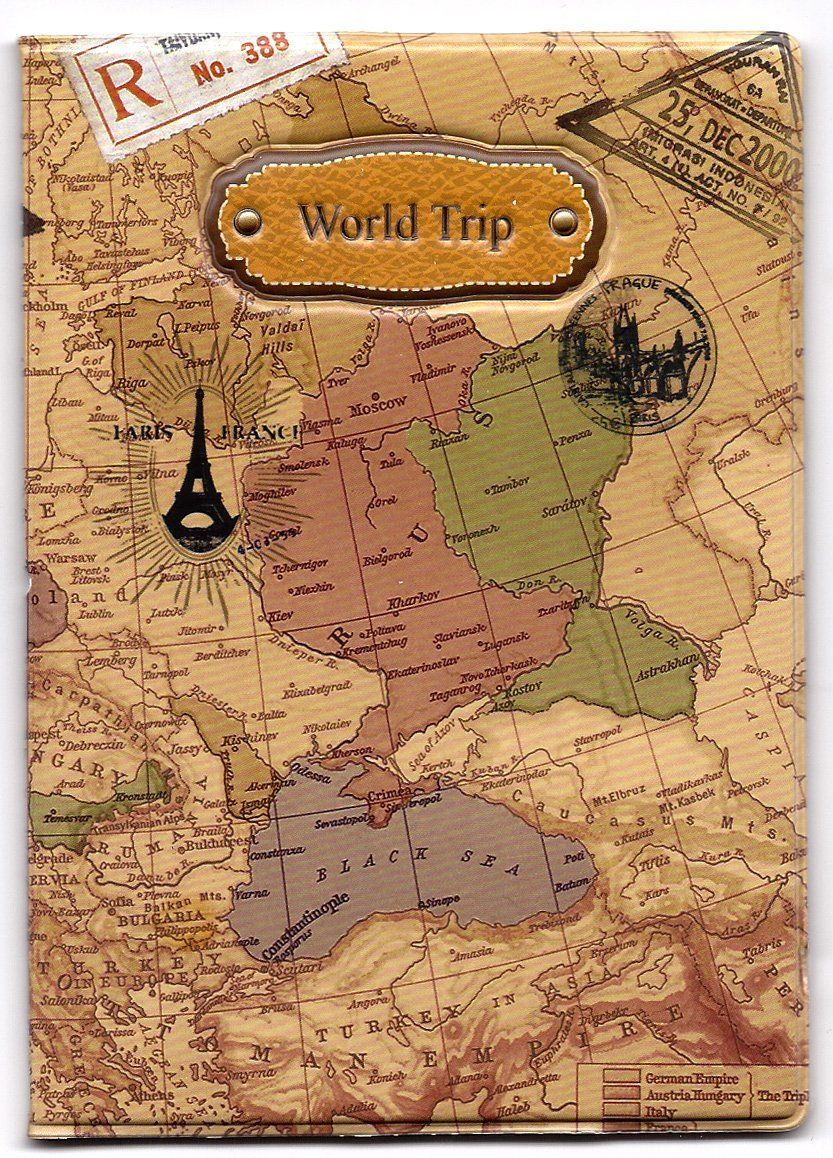 Amazon world map 3d passport cover no more bent corners while amazon world map 3d passport cover no more bent corners while traveling world trip office products gumiabroncs Gallery