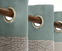 Eyelet Heading Is A Contemporary Alternative For Use With Curtain
