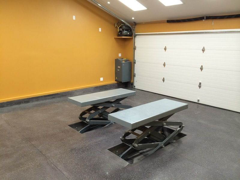 In-floor Scissor Lift Install - The Garage Journal Board ...
