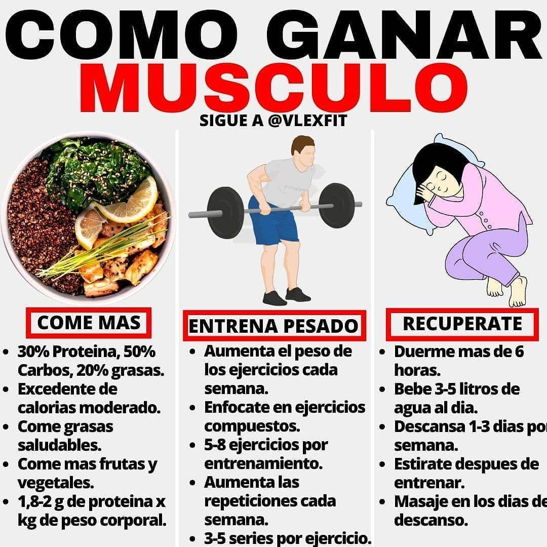 Nutricion Ejercicio Salud On Instagram Como Ganar Musculo Por Vlexfit Algunos Conse Ganar Musculo Rutina Para Masa Muscular Dietas Para Masa Muscular