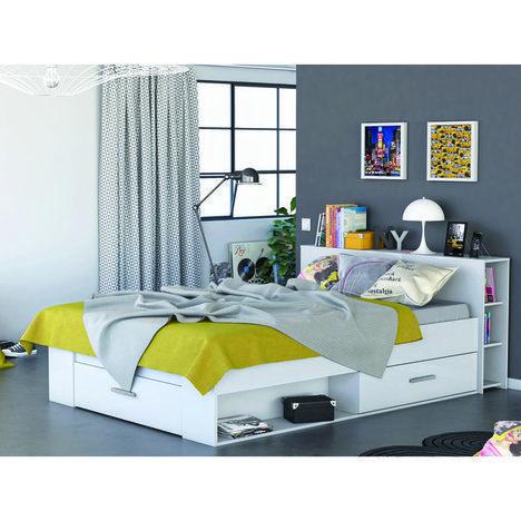 Funktionsbett Pocket Weiss 140x200 Cm Bettgestelle Betten Mobel Stauraumbett Bett Design Modern Bett