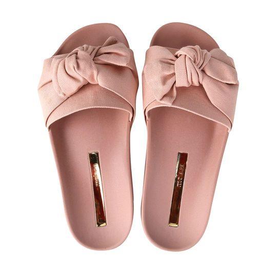ece5edd3d Chinelo Moleca Slide Laço Feminino - Branco | ✪Sneakers•Boots•Flats ...