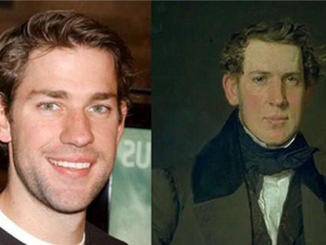 45 People From History Who Look Exactly Like Today S Celebrities Celebrity Look Alike Celebrities John Krasinski