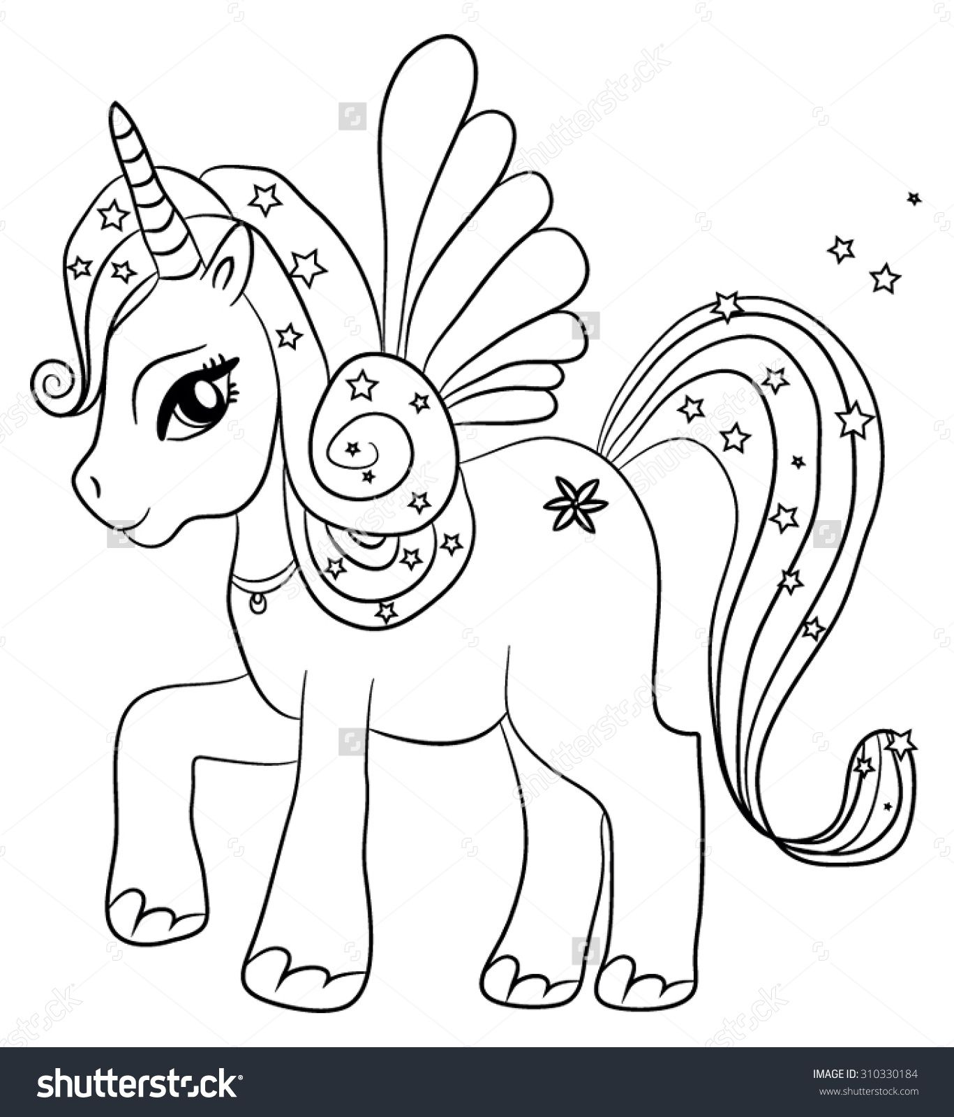 Unicorn Coloring Page Designs Animal Coloring Pages Fairy Coloring Pages Unicorn Coloring Pages