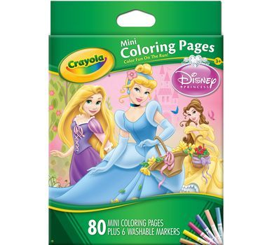 Mini Coloring Pages Disney Princess