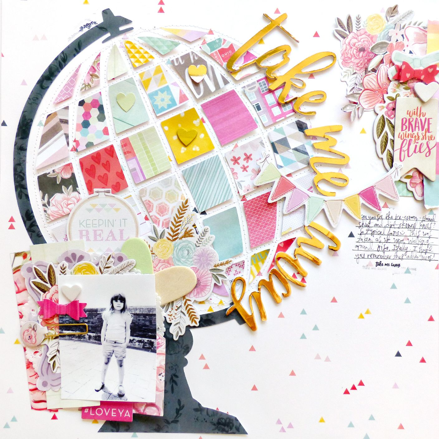 Take Me Away by Paige Evans scrapbook layouts