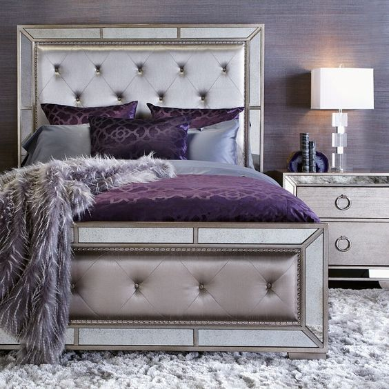 62 Amazing And Cool Headboard Ideas Champagne Bedroom Silver