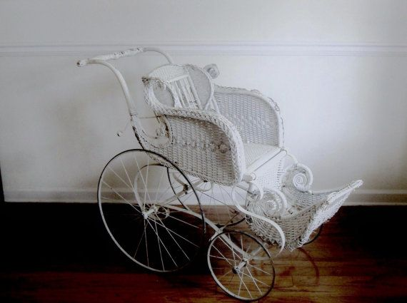 victorian baby strollers | Victorian Wicker Baby Carriage ...